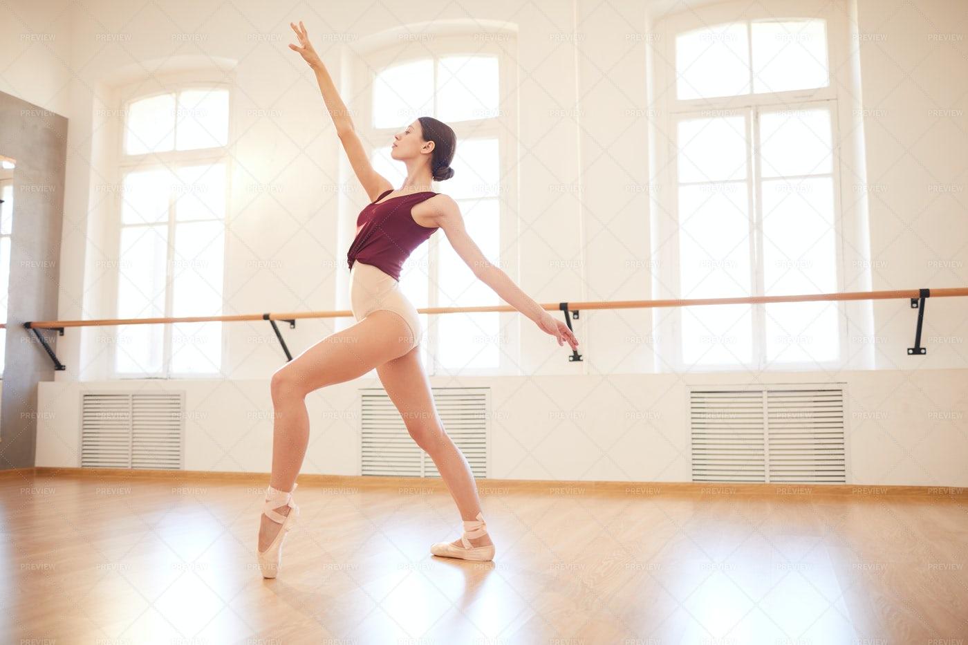 Elegant Woman Dancing In Pointe...: Stock Photos