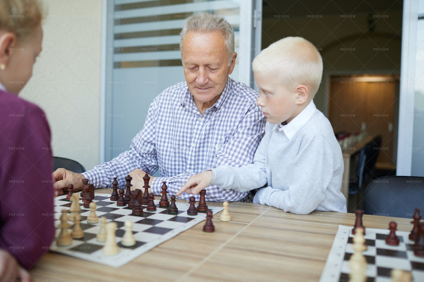 Suggesting Chess Move: Stock Photos