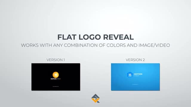 Flat Logo Reveal 2 Versions: After Effects Templates