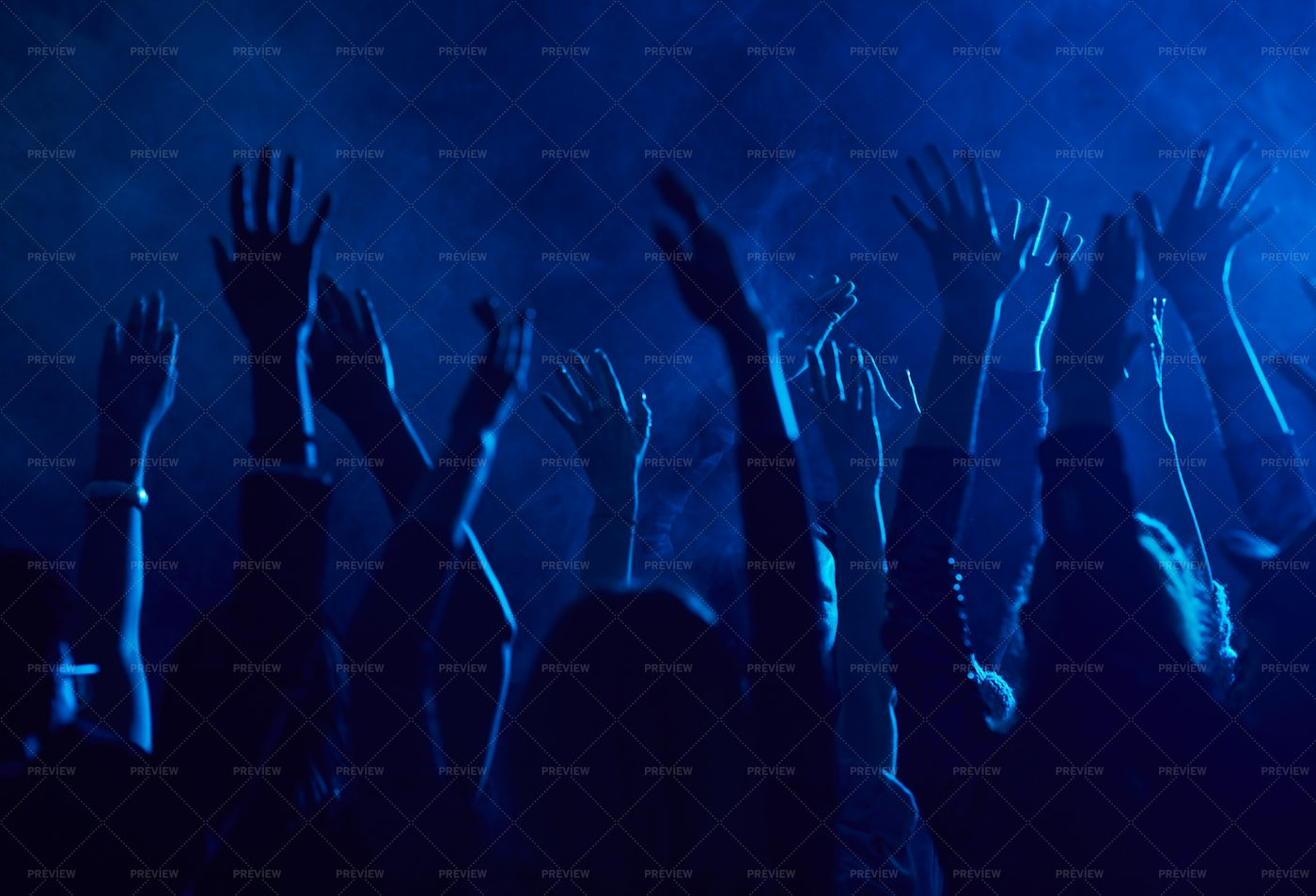 Crowd Dancing In Nightclub: Stock Photos