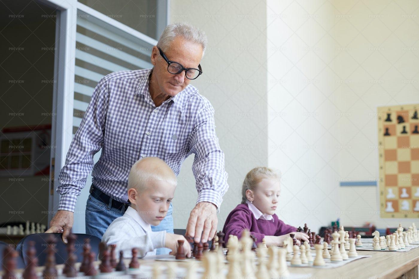 Chess Class With Teacher: Stock Photos