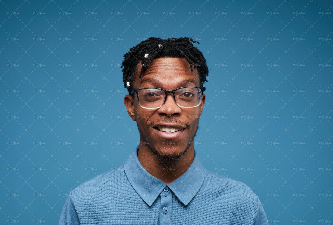 Contemporary African Man Smiling: Stock Photos