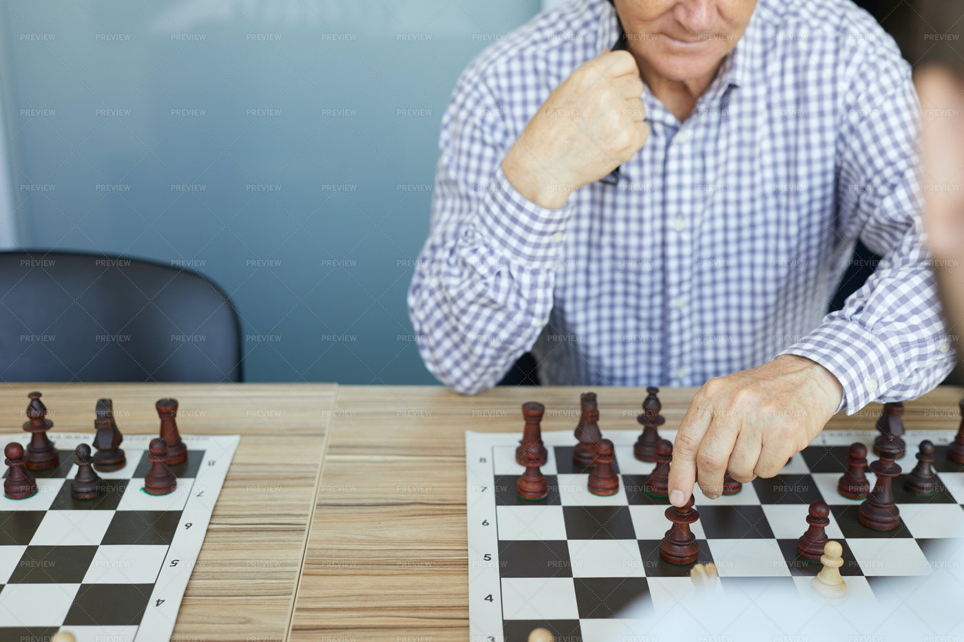 Deliberate Chess Move: Stock Photos