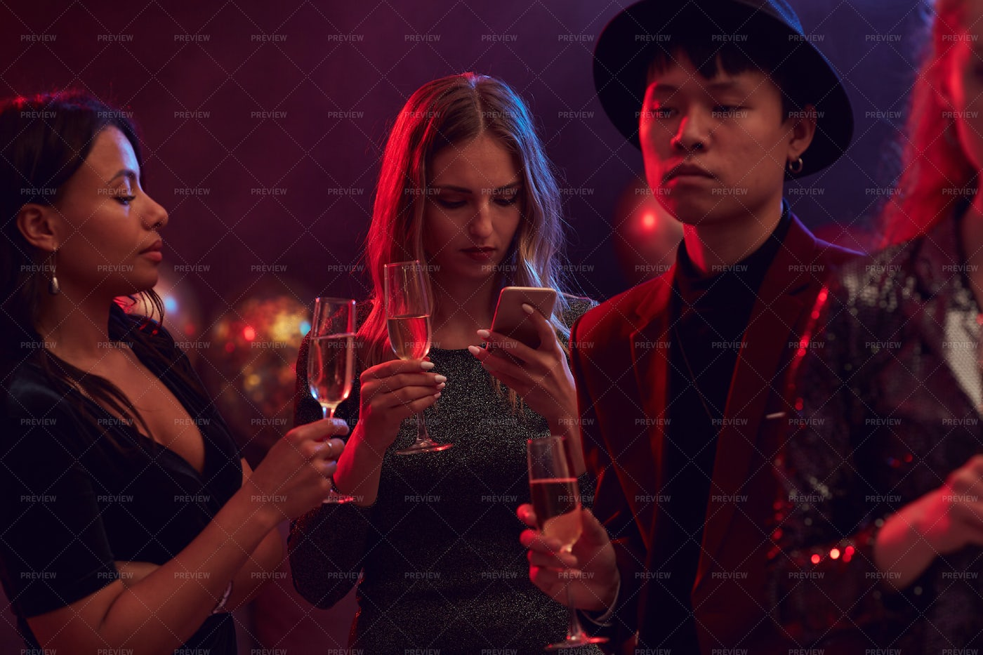 Guests At Nightclub Party: Stock Photos