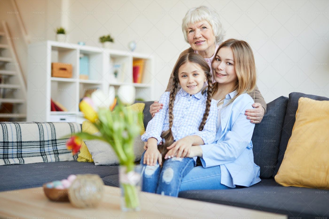 Womens Family Portrait: Stock Photos