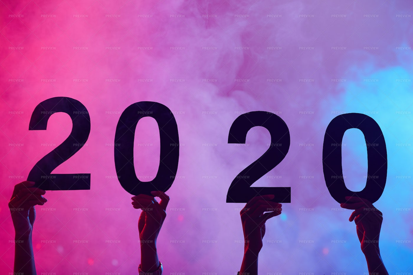 2020 Party Background: Stock Photos