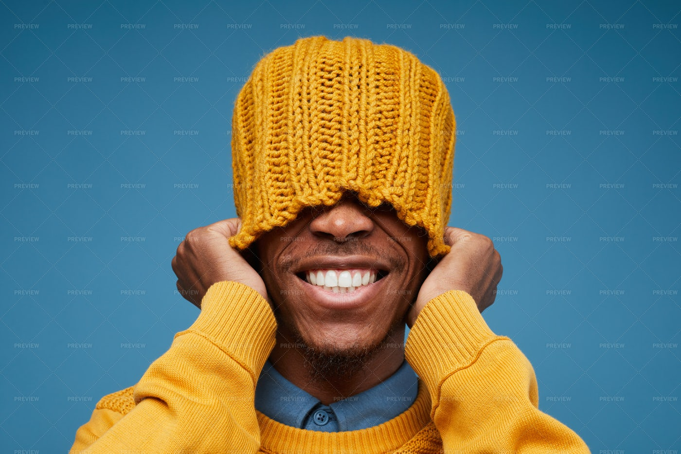 Funky African-American Man Smiling: Stock Photos