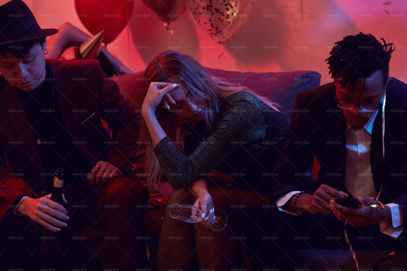 Drunk Woman In Nightclub: Stock Photos