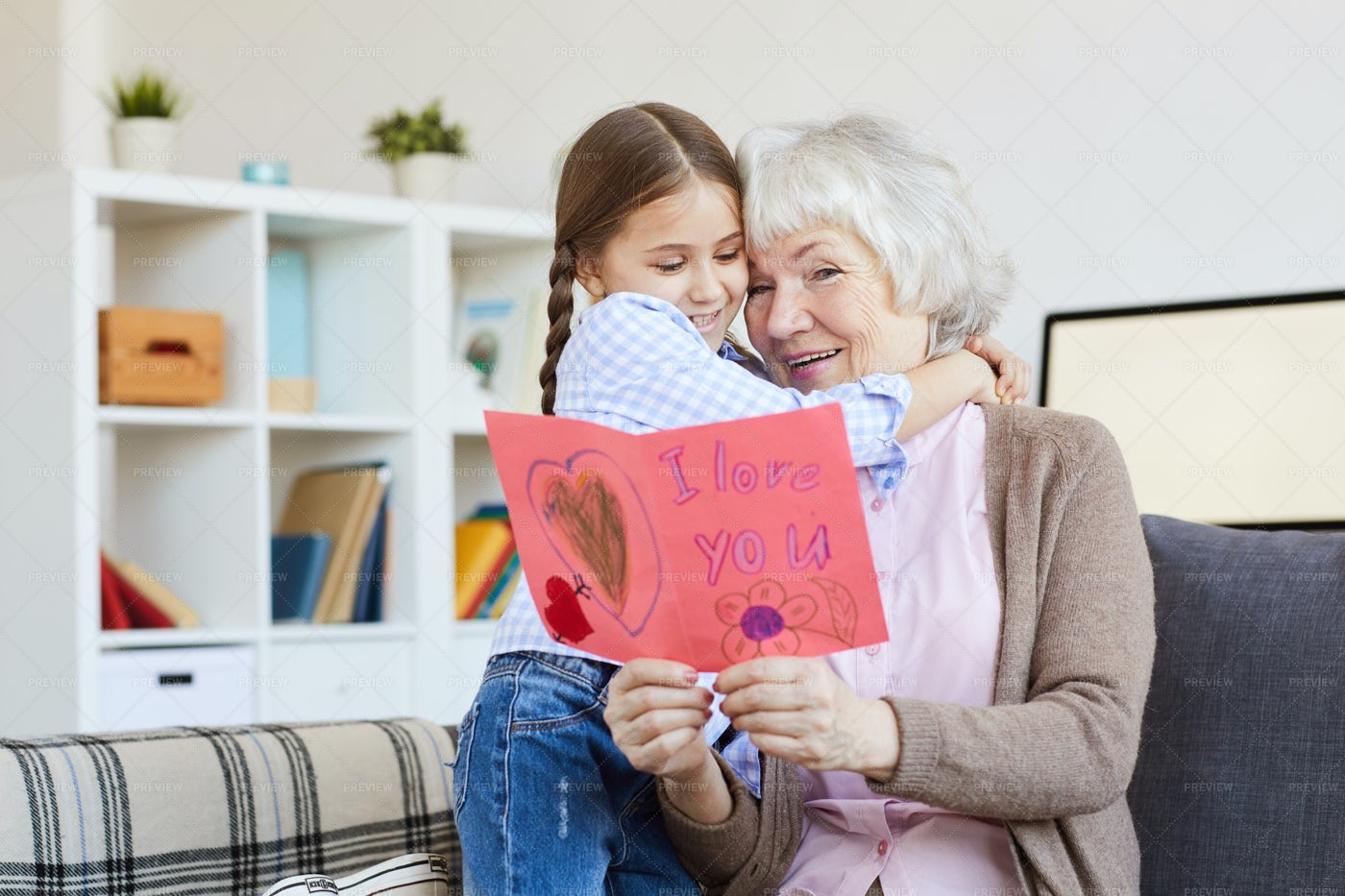 I Love You Card For Grandma: Stock Photos