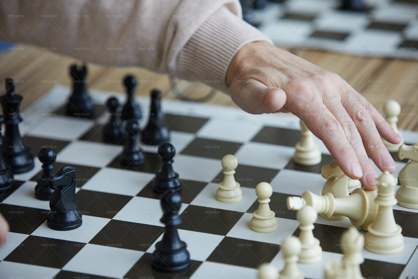 Getting Opponent Chess Figure: Stock Photos