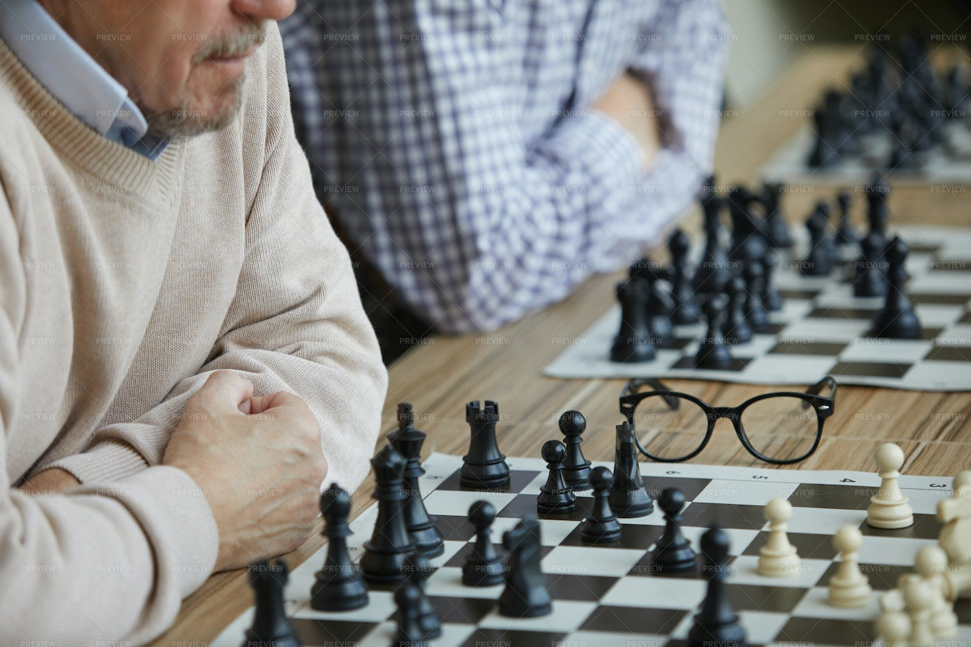 Difficult Chess Tournament: Stock Photos
