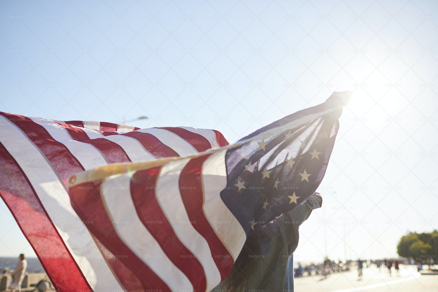Enjoying Independence In America: Stock Photos