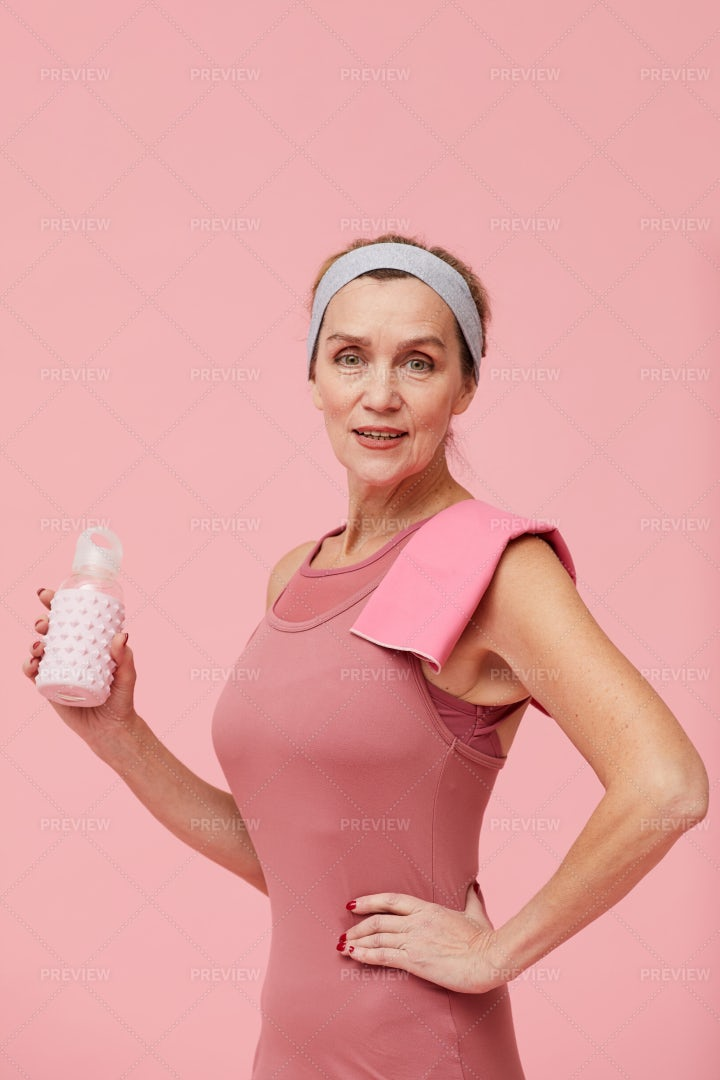 Portrait Of Fit Mature Woman On...: Stock Photos