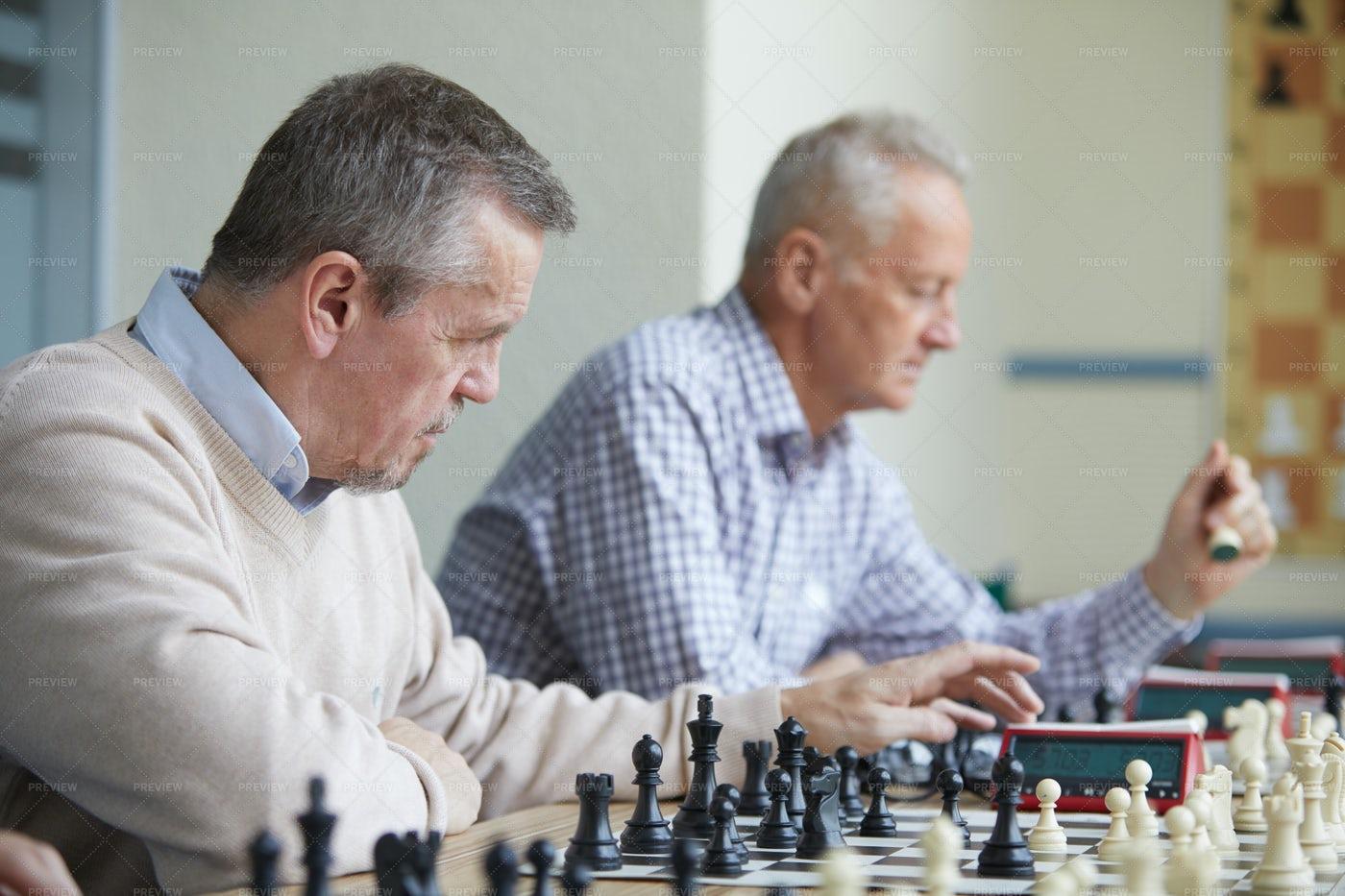 Amateur Chess Tournament: Stock Photos