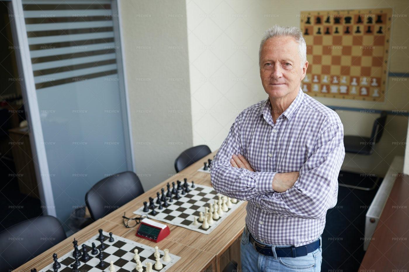 Teacher At Chess Club: Stock Photos