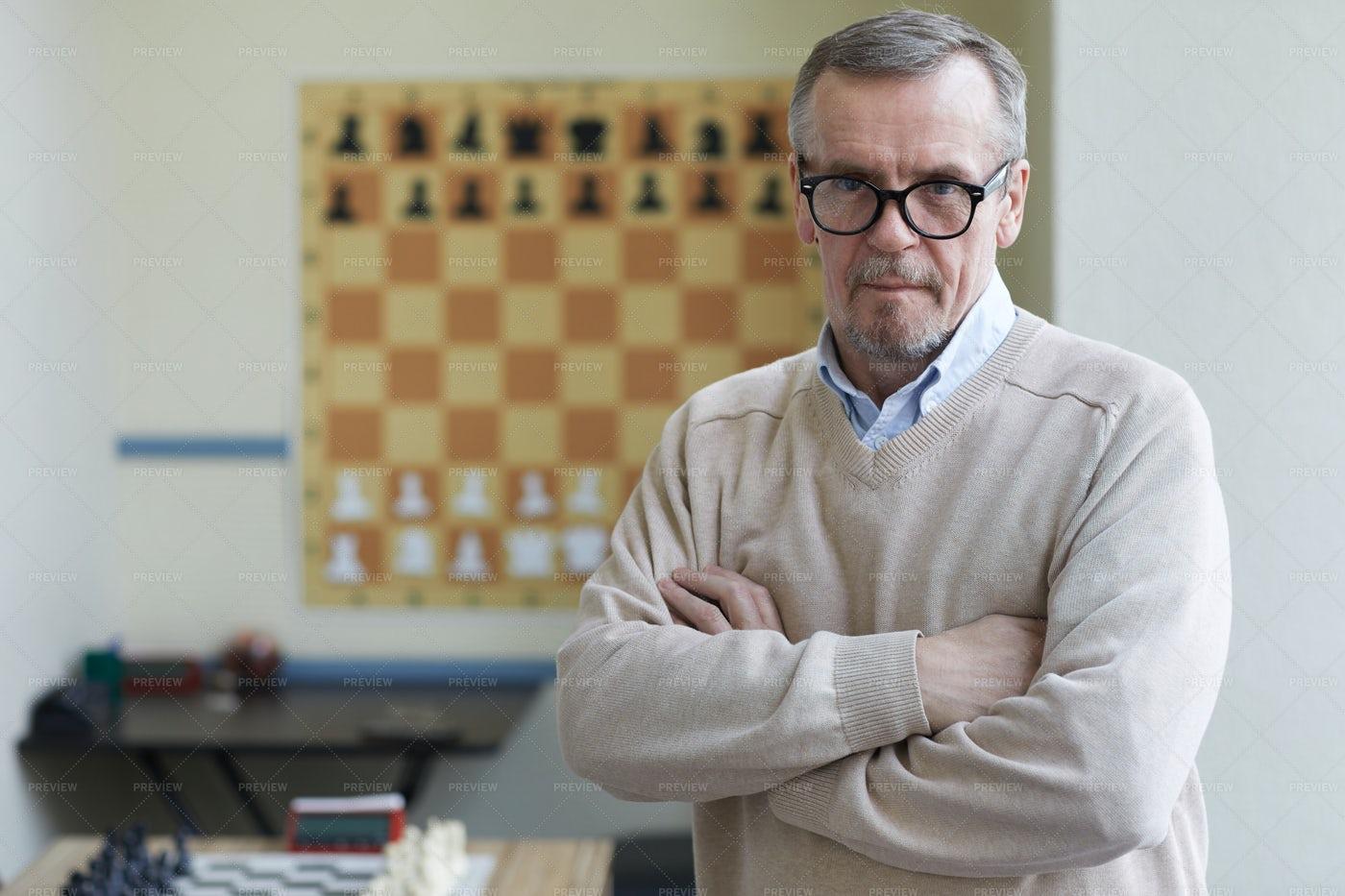 Principal Of Chess Club: Stock Photos