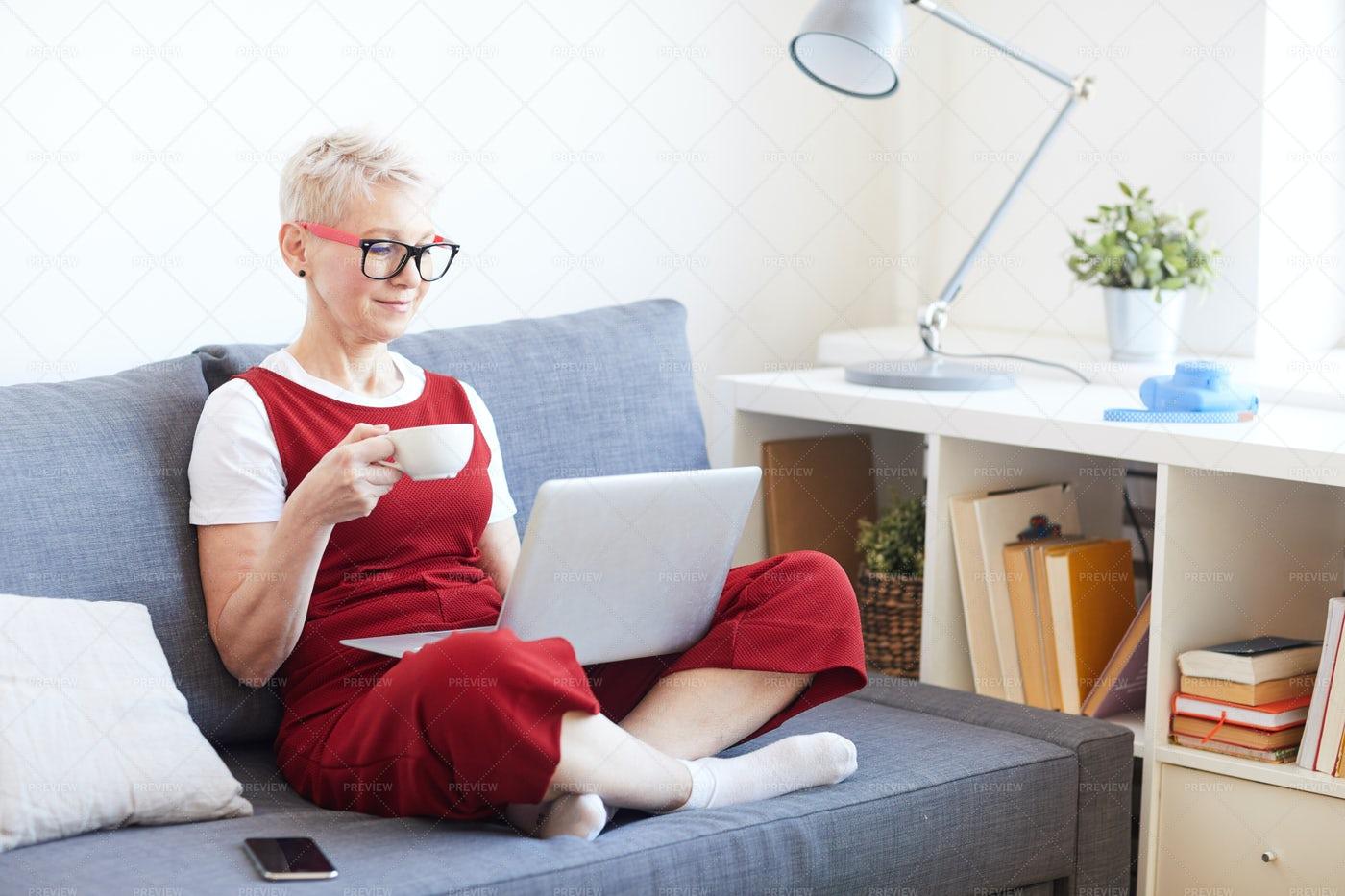 Break With Laptop: Stock Photos