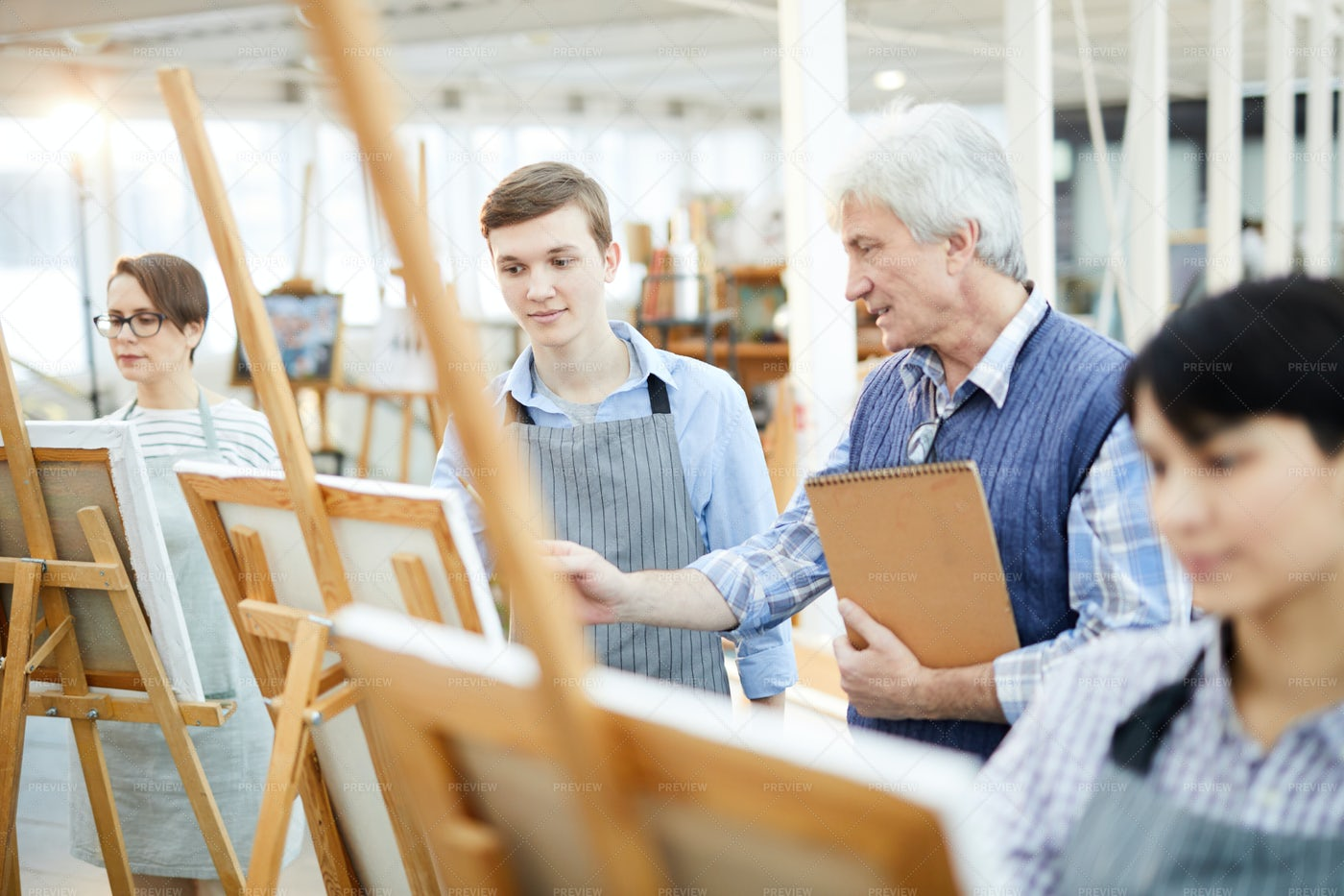 Portrait Of Young Art Student: Stock Photos