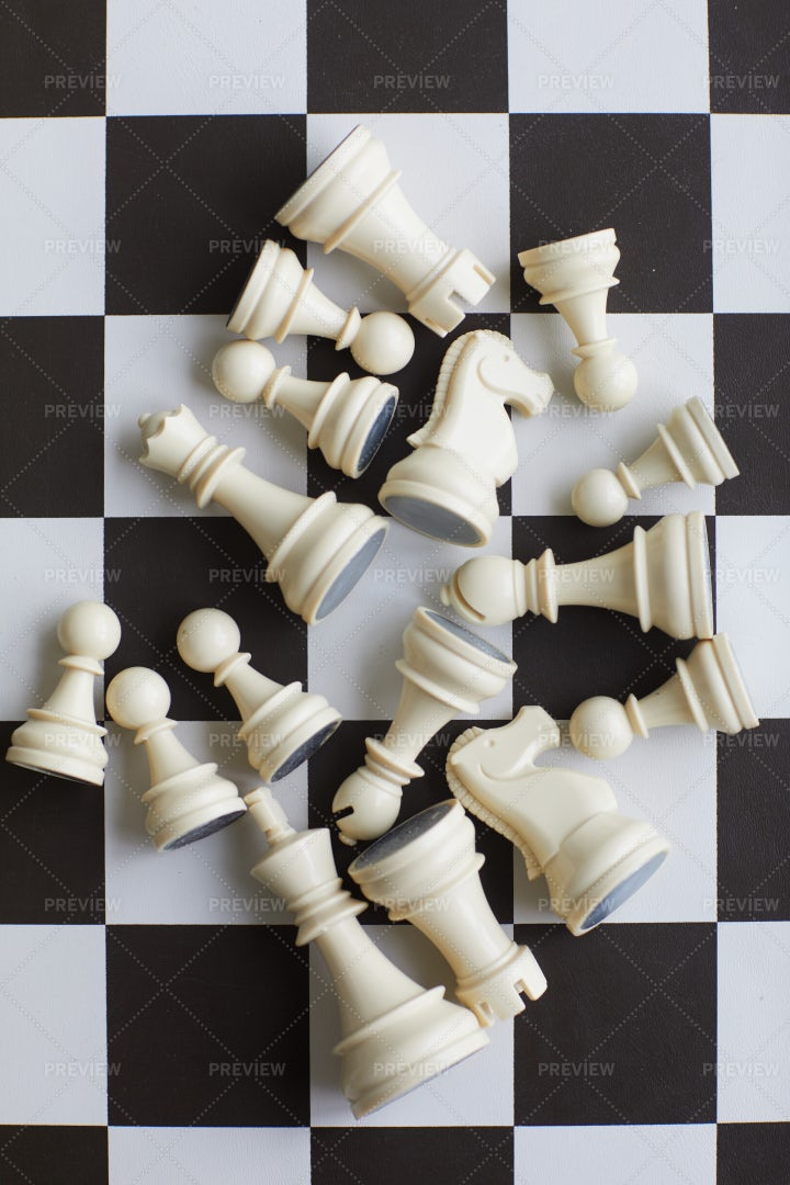 Chess Board With Figures: Stock Photos
