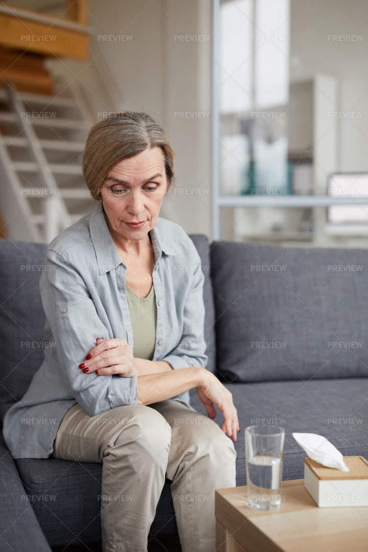 Lonely Mature Woman: Stock Photos