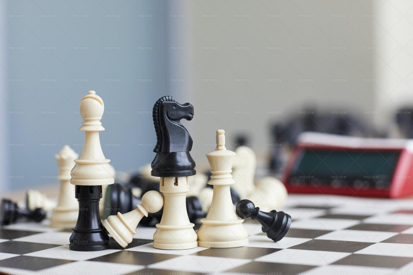 Wooden Chess Pieces: Stock Photos