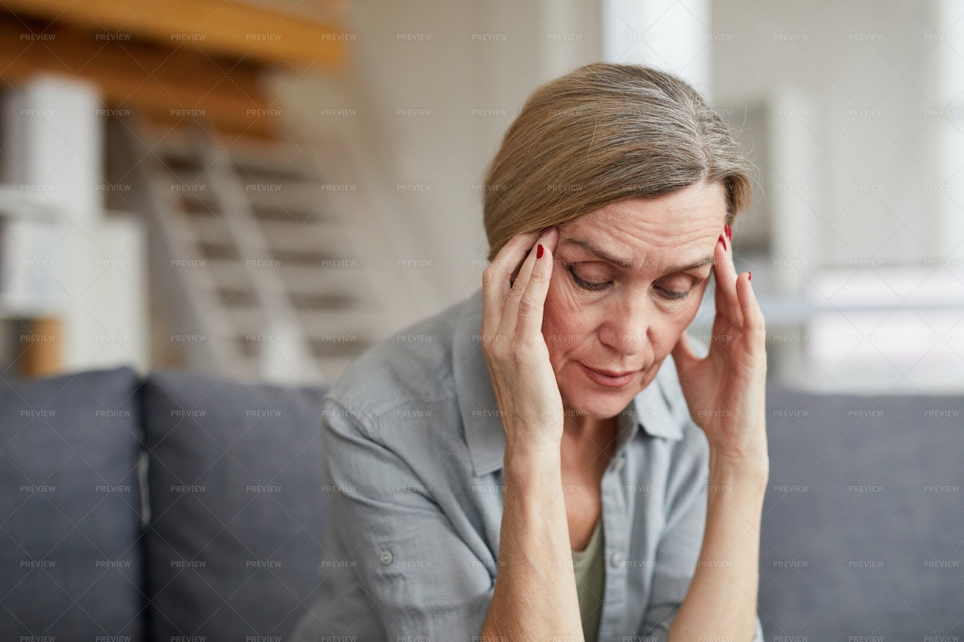 Mature Woman Suffering From...: Stock Photos
