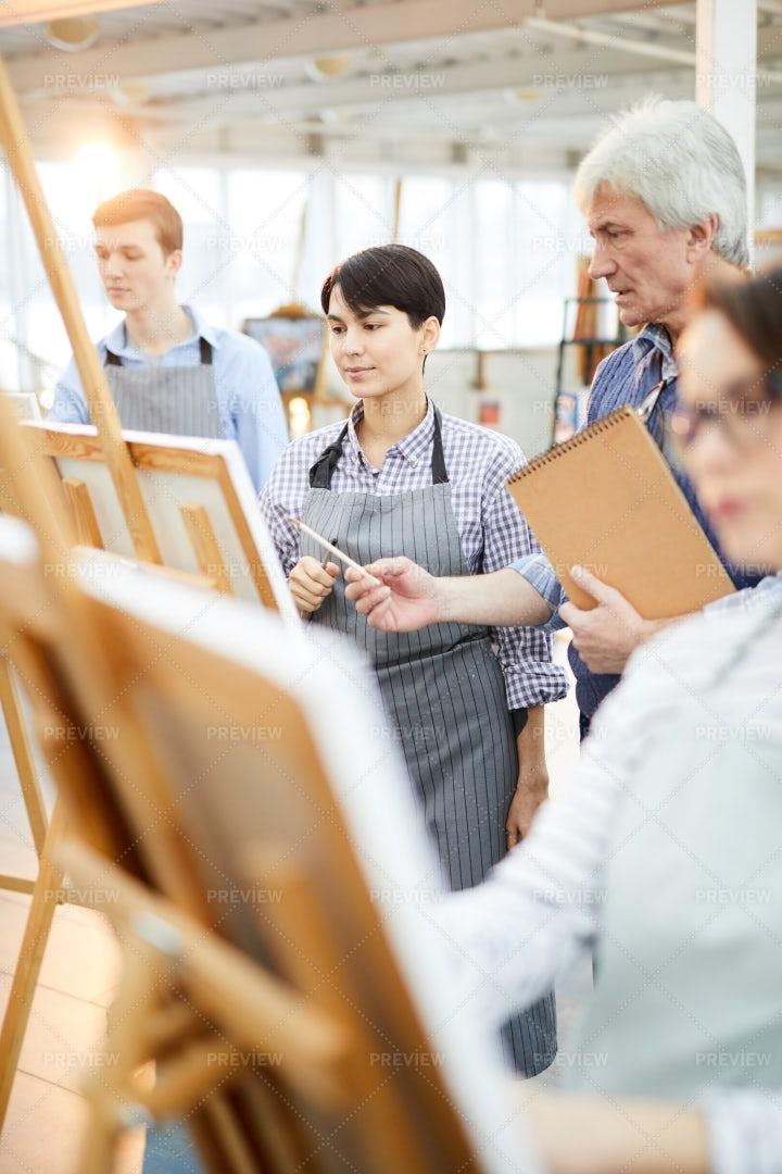 Workshop In Art Class: Stock Photos