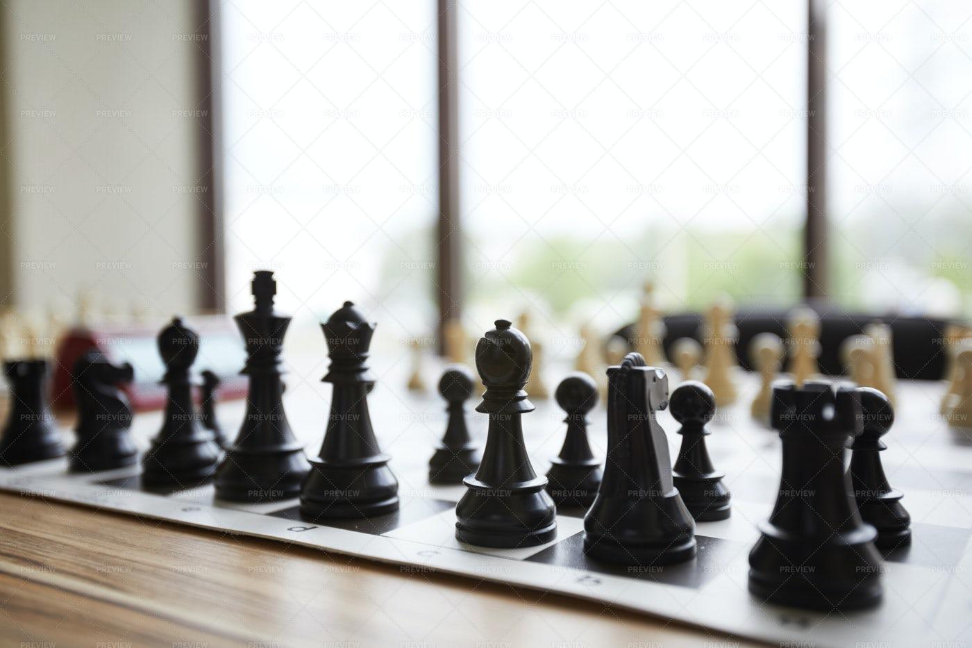 Arranged Chess Pieces: Stock Photos