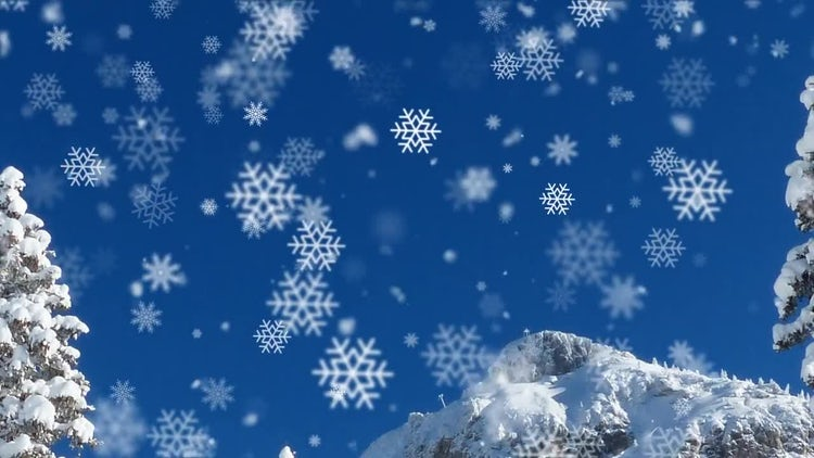 Falling Snowflakes Overlays: Stock Motion Graphics