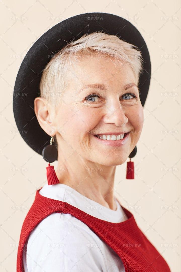 Happy Blonde Woman: Stock Photos