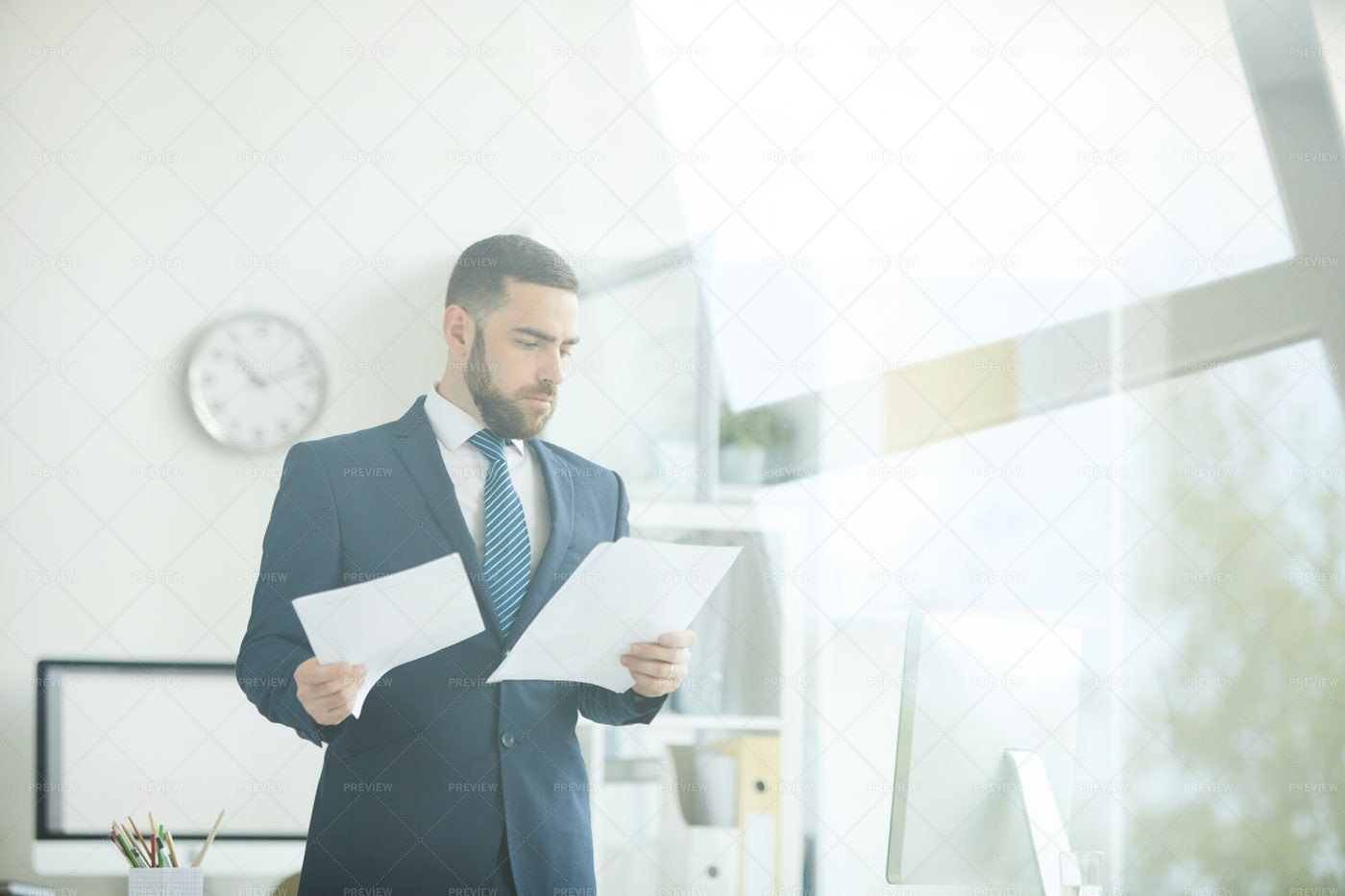 Working With Business Documents: Stock Photos