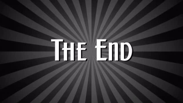 The End Vintage Style Film: Stock Motion Graphics