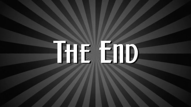 The End Vintage Style Film: Motion Graphics