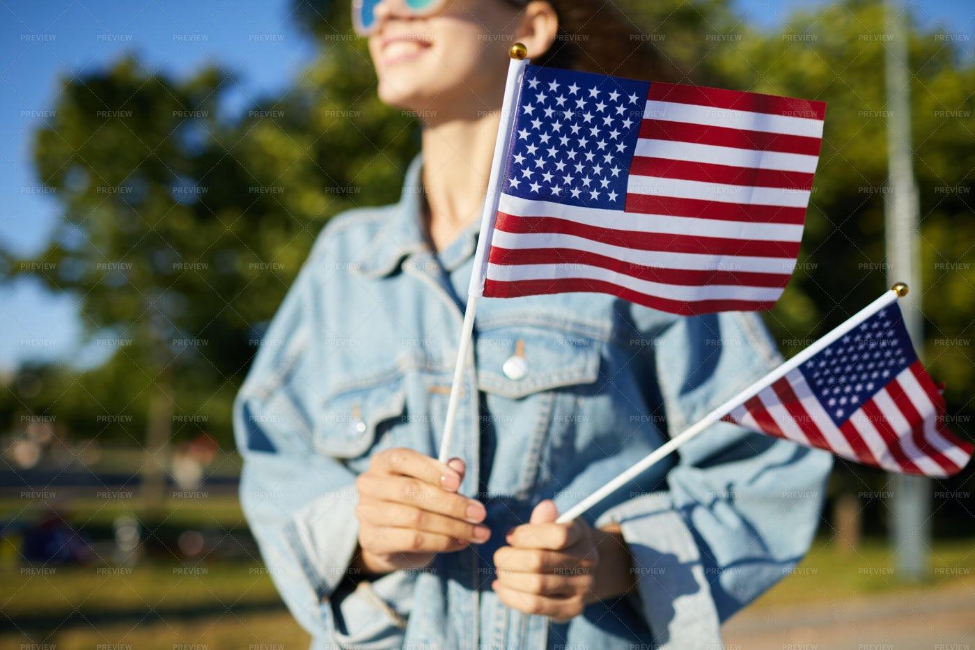 Young Patriot Of USA: Stock Photos