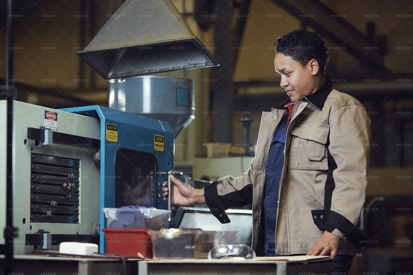 Modern Adult Woman Working At...: Stock Photos