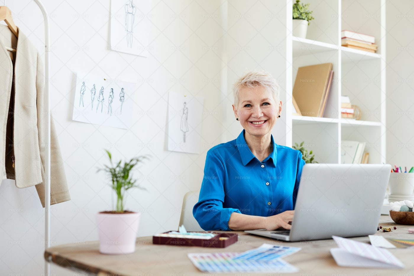 Woman Surfing In The Net: Stock Photos