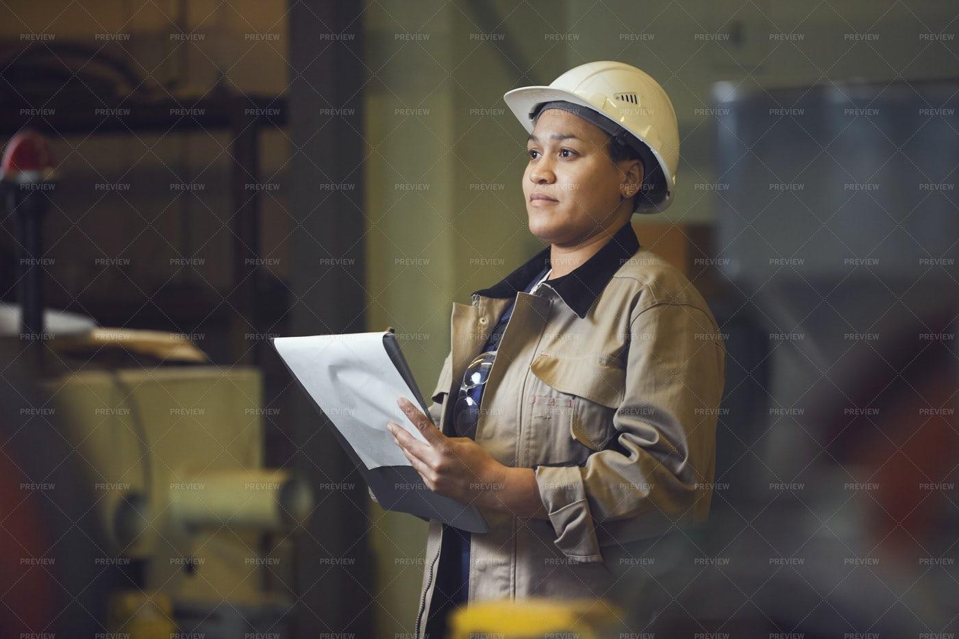 Female Factory Supervisor: Stock Photos