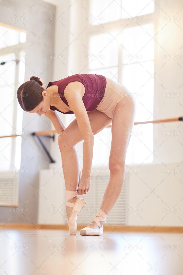 Preparing For Ballet Class: Stock Photos