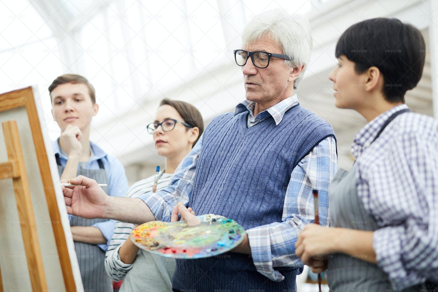 Mature Art Teacher: Stock Photos