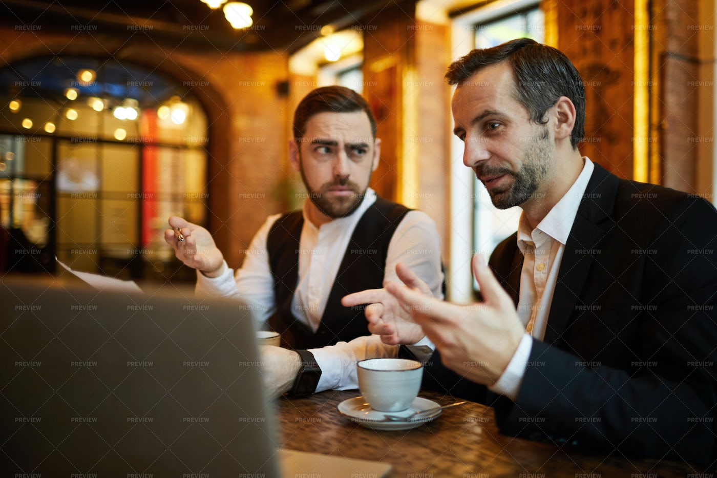 Business Partners Meeting In...: Stock Photos