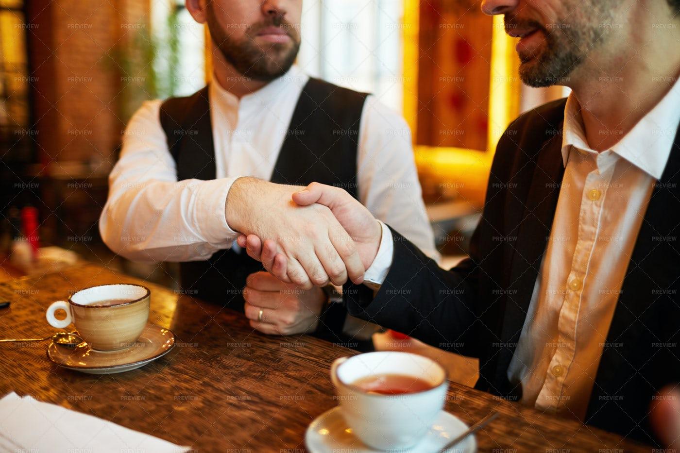Deal In Restaurant: Stock Photos
