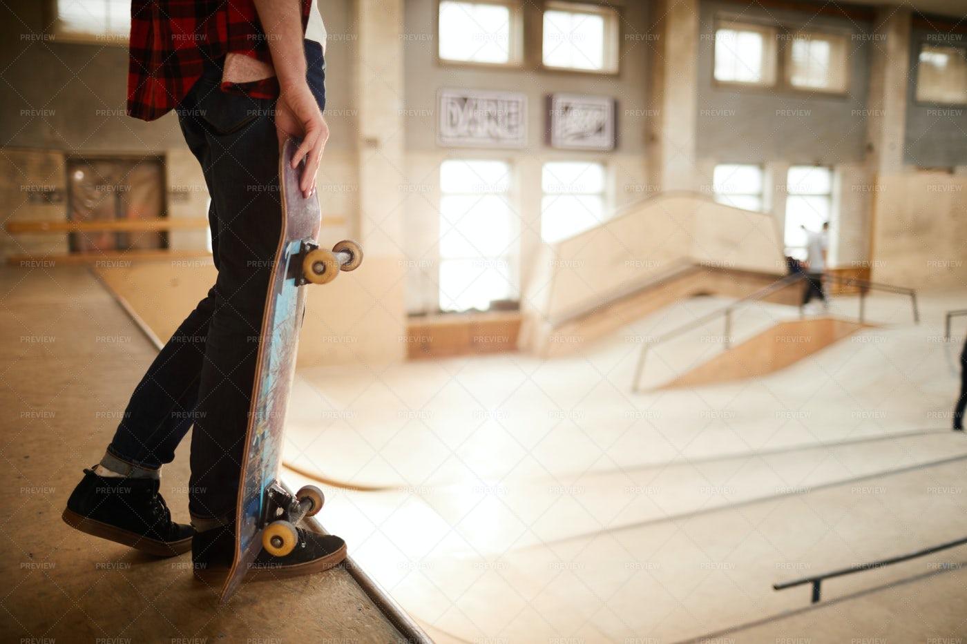 Skater Standing On Ramp: Stock Photos