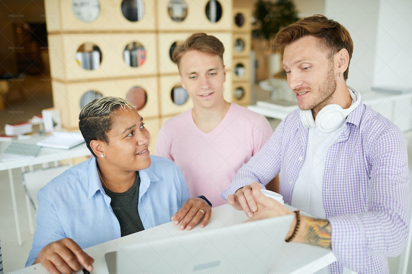 Discussing Startup Ideas In...: Stock Photos