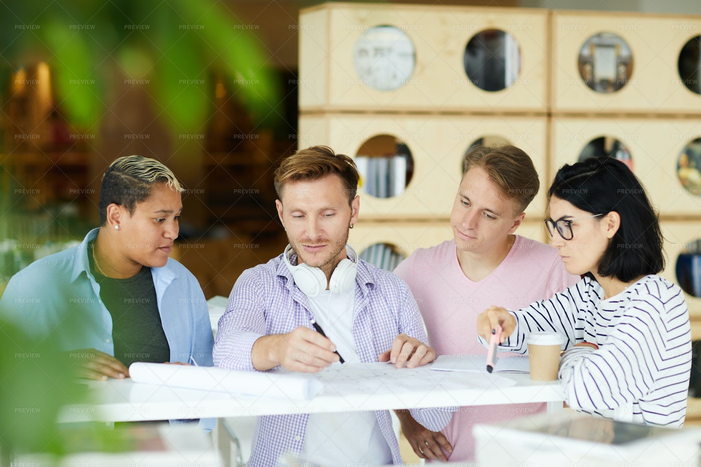 Young Architects Working With...: Stock Photos