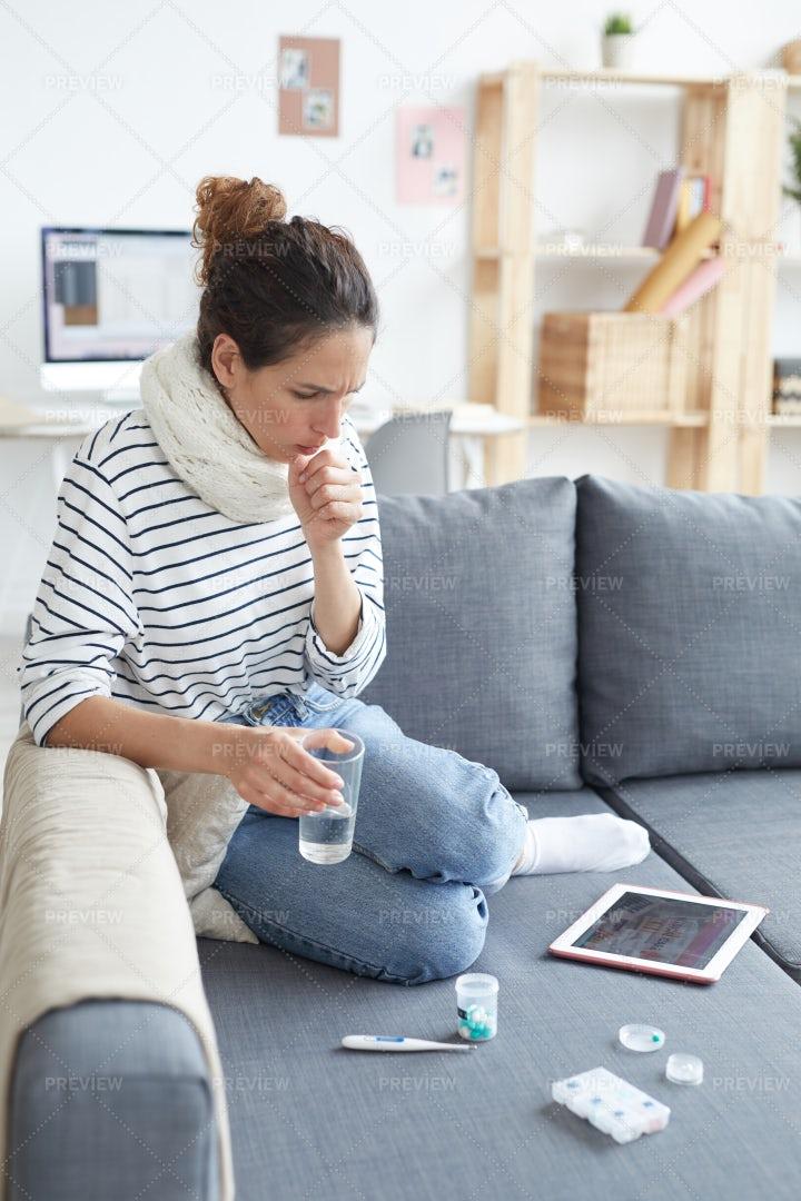 Woman Having Cold: Stock Photos