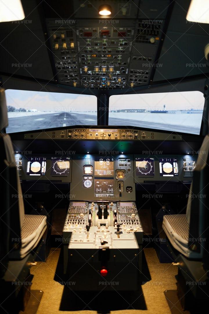 Empty Cockpit Area: Stock Photos