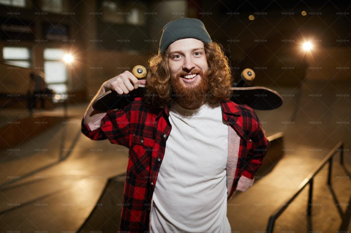 Skater Smiling At Camera: Stock Photos