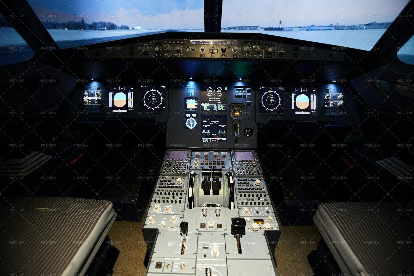Aircraft Cockpit Dashboard: Stock Photos