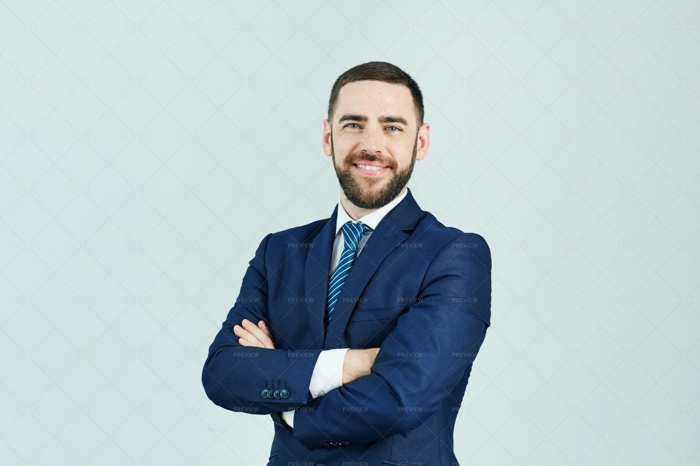 Smiling Successful Man In Suit: Stock Photos