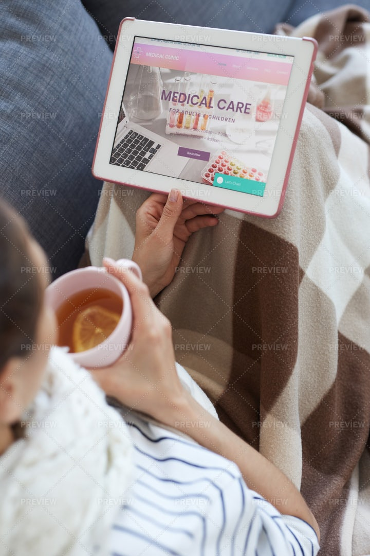 Reading About Medical Care: Stock Photos